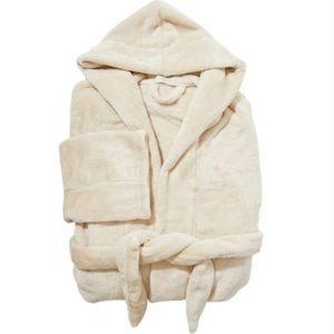 Cozy Robe Cream Tan Comfy Loungewear Soft Fuzzy